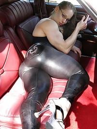 Latina big latex booty